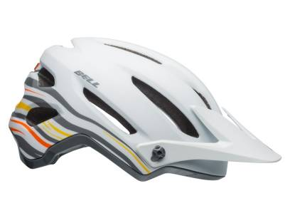 KASK ROWEROWY BELL 4FORTY RUSH MATTE GLOSS WHITE ORANGE ROZ.S 52-56CM
